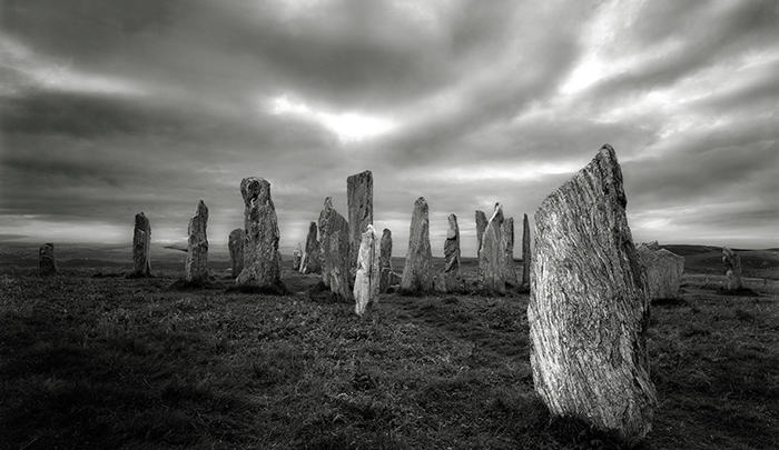 Callanish Stone Circle, ca. 3000 B.C. Isle of Lewis, Scotland 1996