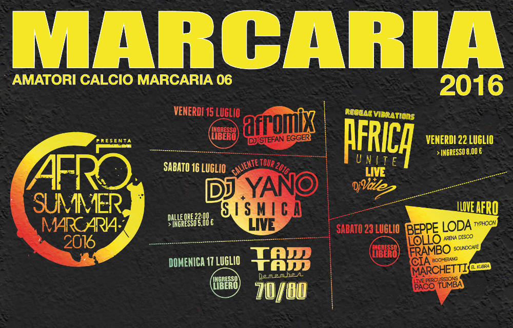 marcaria afro summer