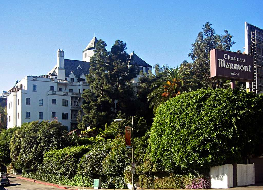 Chateau Marmont in Sunset Boulevard
